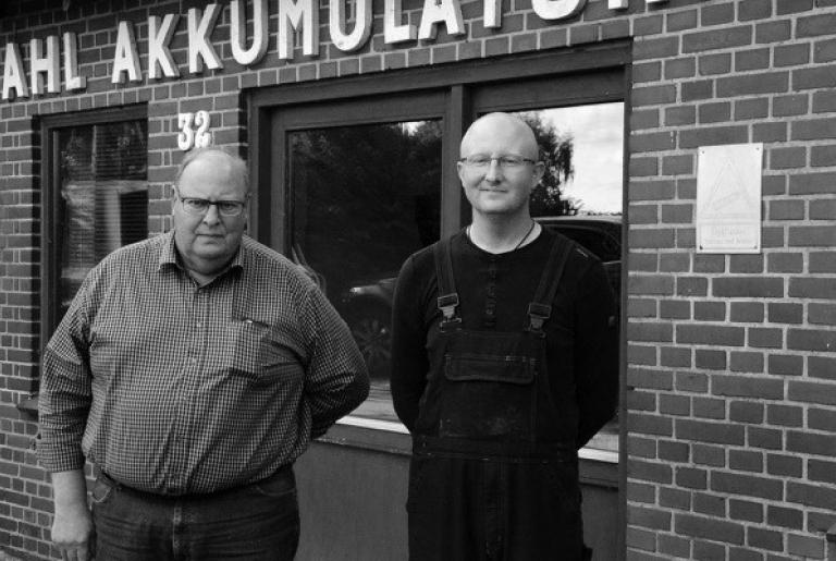 The founders of Sahl Akkumulatorfabrik A/S
